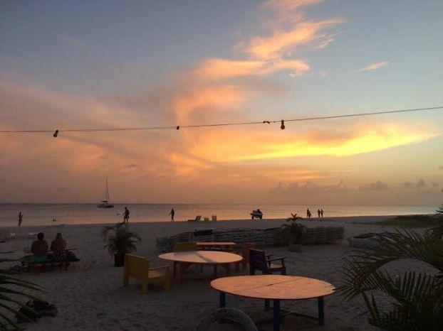 boatyard sunset