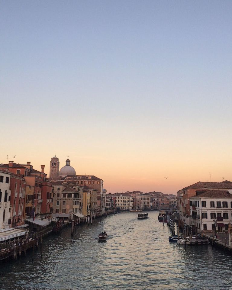 VENICE GRAND CANAL BRIDGE SUNSET